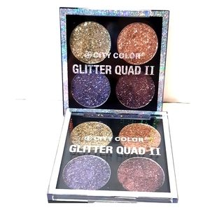 2 City Color Glitter Quad II 2 Pressed EyeShadow